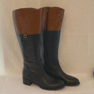 ETIENNE AIGNER Chastity Equestrian Leather Boot